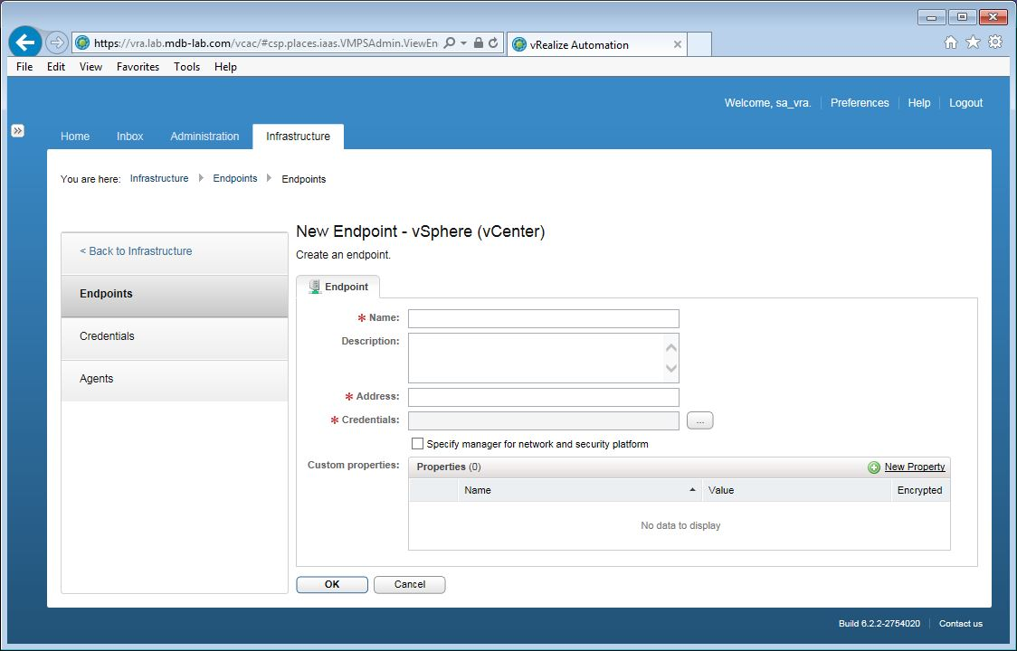 Building an advanced lab using vmware vrealize automation part 11 enter in the details of the vcsa using the following format substitute accordingly malvernweather Image collections