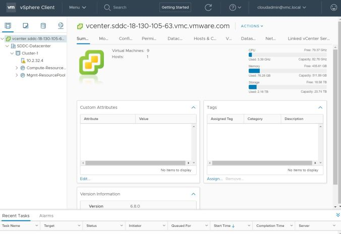 Configuring Hybrid Linked Mode between VMConAWS and a multi-site on